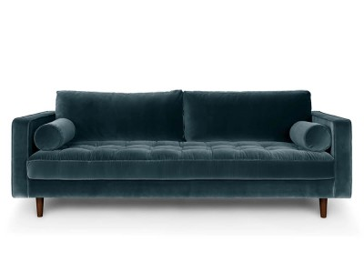 Ghế sofa cao cấp màu xanh lông nhunng CNT44A