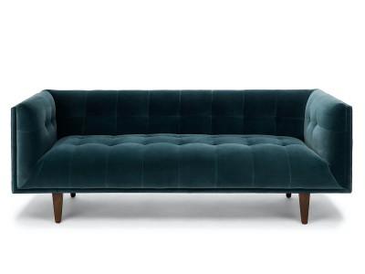 Sofa lông nhung màu xanh CNT66A